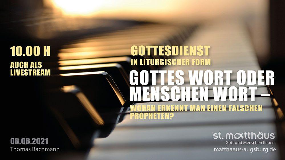 Gottes Wort oder Menschen Wort - Woran erkennt man einen falschen Propheten